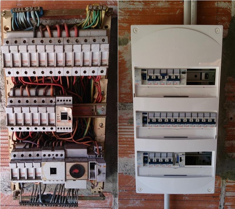 Coffret electrique renovation