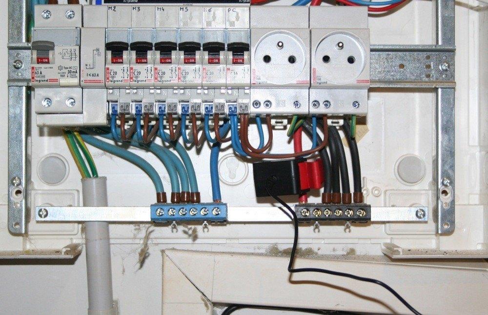 Tableau electrique avec prise