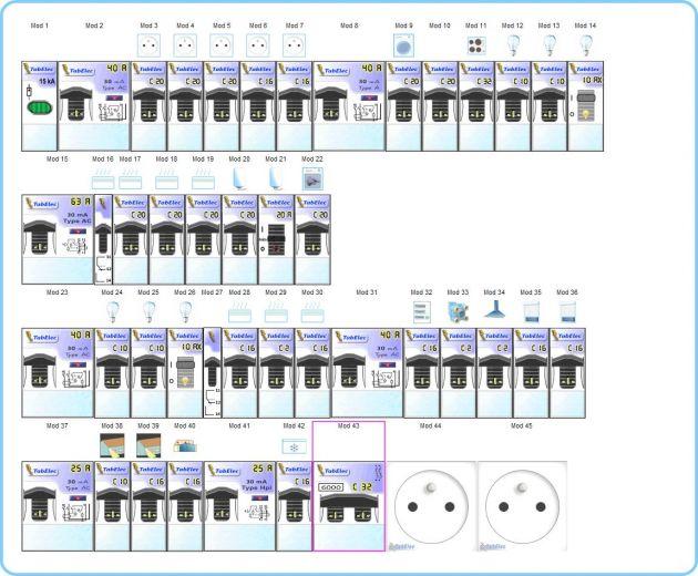 tableau distribution lectrique domestique l 39 electronique la maison. Black Bedroom Furniture Sets. Home Design Ideas