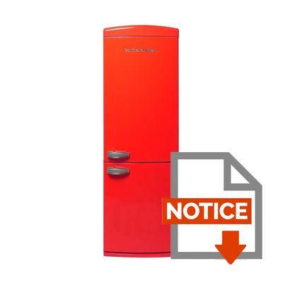 Frigo congelateur rouge