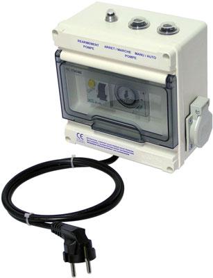Coffret electrique filtration