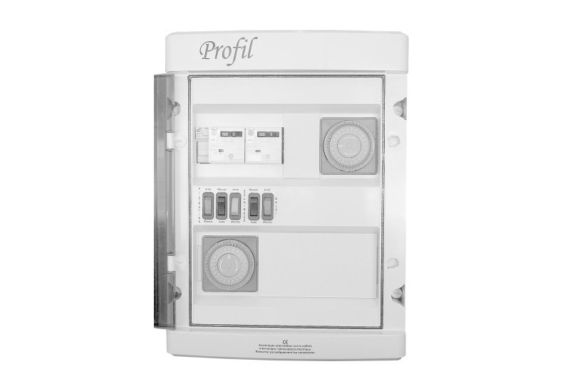 Coffret electrique filtration projecteur