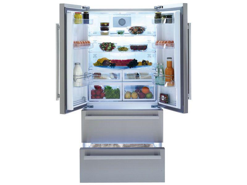 Réfrigérateur inox conforama