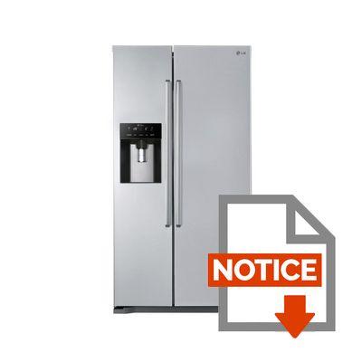 Réfrigérateur américain lg gsl325pvcvd
