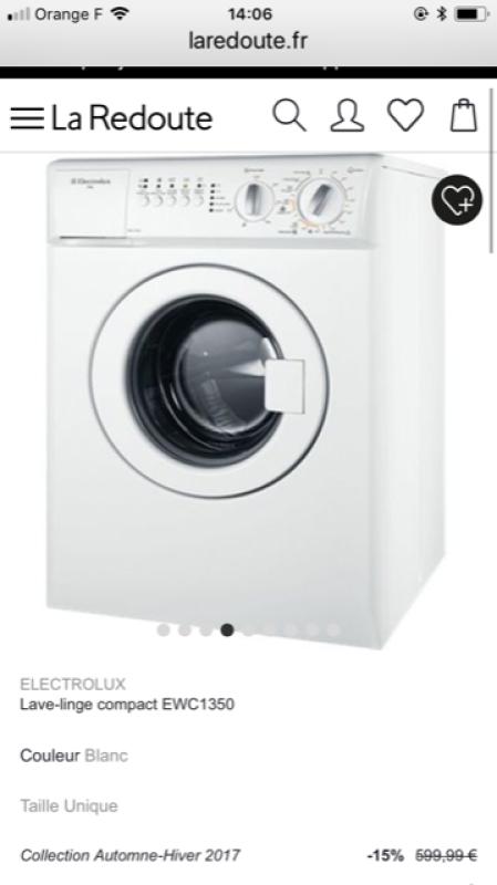Electrolux lave linge compact