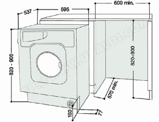 Lave linge top dimensions