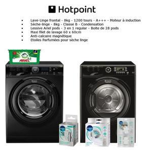 Hotpoint - lave linge haf921sfr aqualtis 9kg 1200trs super silence
