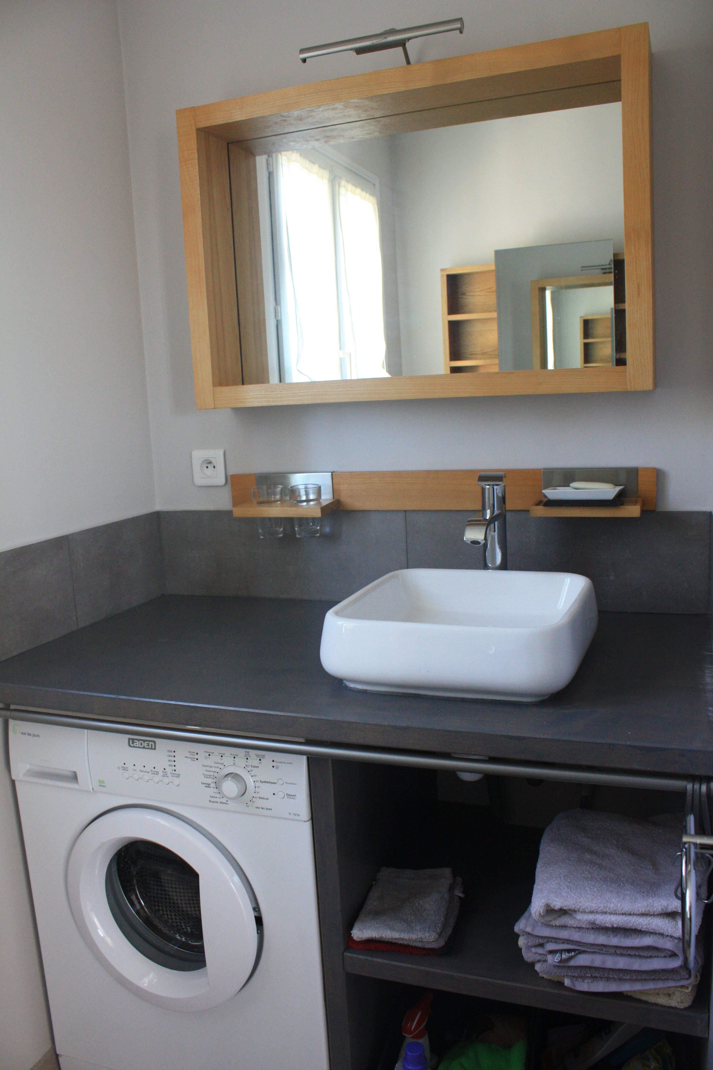 Lave linge sous vasque salle de bain - L\'electronique à la maison